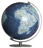 COLUMBUS DUO AZZURO Miniglobus TING kompatibel: 12 cm Durchmesser, Metallmeridian- und fuß  TING: Informationen über Bevölkerungszahlen und Hauptstädte