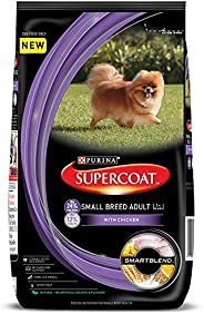 PURINA SUPERCOAT Adult Small Breed Dry Dog Food, Chicken, 3 kg