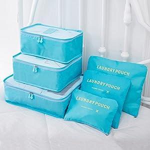 HongyuTing 6pcs Organisateur de bagage de Sac voyage organisateurs de valise et voyage