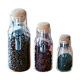 Wshuhouui Bottiglia di Vetro di Sughero Sigillata Vasca da Bagno Bollitore di Stoccaggio Bottiglia di Condimento Bottiglia di Stoccaggio Vaso di Stoccaggio di Vario Tipo