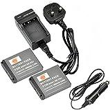 DSTE 2pcs NP-FR1 Rechargeable Li-ion Battery + Charger DC02U for Sony Cyber-shot DSC-F88, DSC-G1, DSC-P100, DSC-P150, DSC-P200, DSC-T30, DSC-T50, DSC-V3 Digital Camera etc