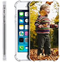 Custodia slim per iPhone, personalizzato fai da te foto in morbido gel di silicone TPU casi per Apple Iphone 4 4S 5 5S 6 6S Plus 7 Custodia protettiva Bumper, regalo di natale, silicone, Thicken Transparent-Gel, For iPhone 5/5s