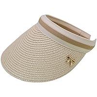 LA HAUTE Women Summer Sun Visor Large Brim Straw Beach Sun Hat Outdoor Sports Cap