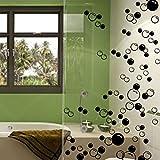 Wand-Sticker für Badezimmer / Wände / Fenster, 44 Luftblasen schwarz