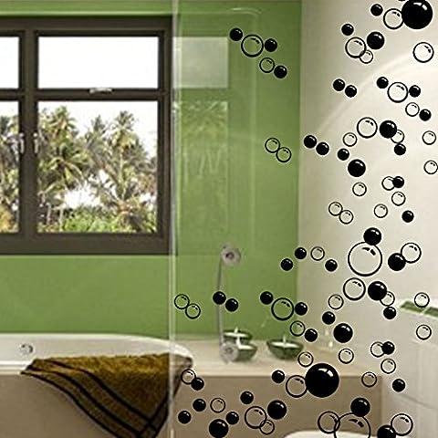 88 Waterproof Floating Bubble Loose Stickers Choose from 20 Colours Bathroom Tile Window Wall Art (Nursery Bagno)