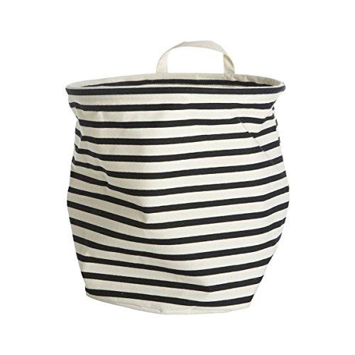 House Doctors Storage, Stripes, dia.: 30 cm, h.: 30 cm, 37.5% cotton/40.4% polyester/22.1% rayon (Stoff Fleckenentfernung)