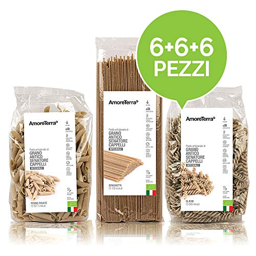 Whole Wheat Pasta - Made in Italy - Organic - 18 Pieces x 500 g