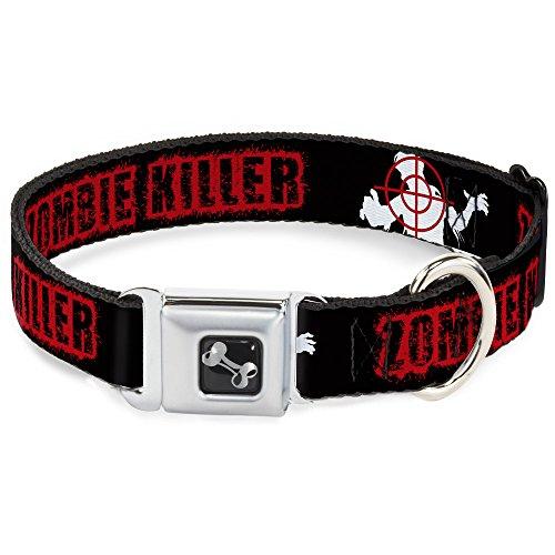 Buckle Down Hundehalsband Zombie-Killer Zombie-Zielscheibe, 33-45,7 cm, Schwarz/Weiß/Rot (Zombie Zielscheiben)
