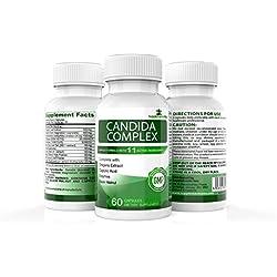 CANDIDA KOMPLEX 60 Kapseln welche die Möglichkeiten CANDIDA/HEFEPILZ INFEKTIONEN zu bekommen verringern Kann nützliche Bakterien ersetzen 100% GELDZURÜCKGARANTIE