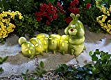 Solarleuchte Raupe Nimmersatt Gartenfigur Dekofigur Solar Polyresin Deko Garten Gartendeko Solarlampe Gartensolarleuchte GartensolarlampeABC Home