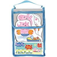 Jumbo Games Peppa Pig 4-in-1 Shaped Foam Bath Time Jigsaw Puzzles