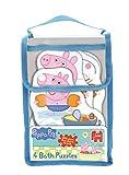 Jumbo Games - Peppa Pig 4 in 1, Set di puzzle per il bagnetto, aderiscono alla vasca