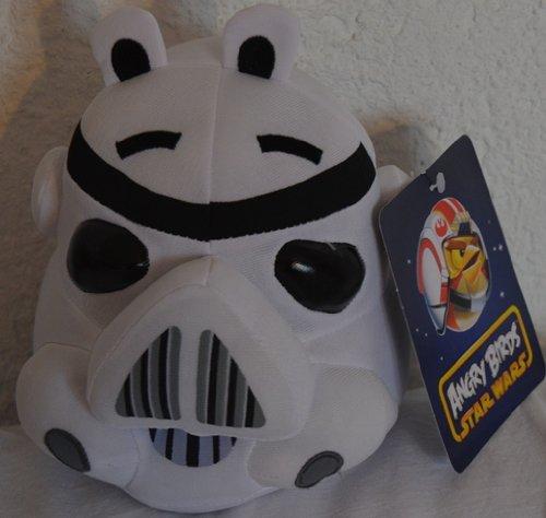 Angry Birds Star Wars Stormtrooper Plüschfigur 15 cm Plüsch Stofftier Beanie (Birds Angry Star Plüsch Wars)