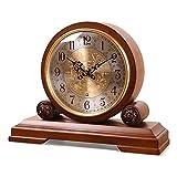 SHANU Orologio del Camino-Orologio di Legno Solido Europeo-Orologi orari Automatici e Orologi Soggiorno Orologio da Tavolo Decorazione