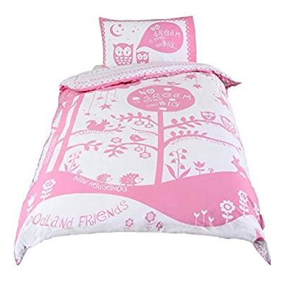 Papercut Woodland Friends Girls Duvet Cover and Pillowcase Bedding Set for Single Beds - inexpensive UK light store.