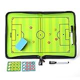 AGPTek Coach-Board Coach-Mappe für Fußball Professional Fußball Taktikmappe, mit Magnete, Stifte, Radiergummi