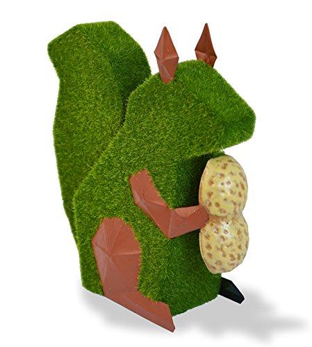 Mundus Dekoration Origami boneil der Eichhörnchen, grün und braun -
