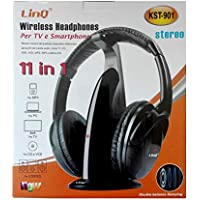 Auriculares inalambricos 11 en 1 para HDTV, TV, VCD, PC, MP3,