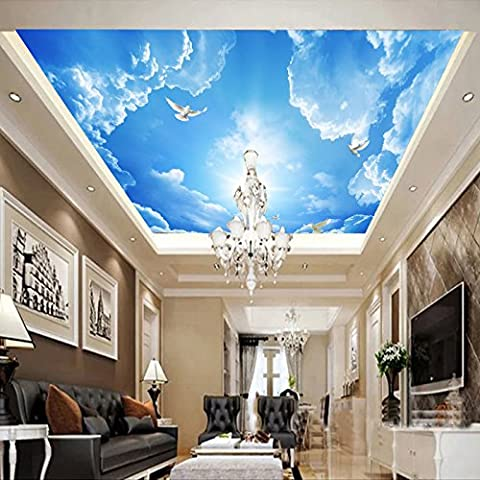 FEI&S Blue Sky 3D ceiling ceiling wallpaper-style living room TV background wall adhesive-bonded cloth murals, texture