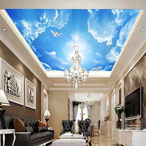 feis-blue-sky-3d-ceiling-ceiling-wallpaper-style-living-room-tv-background-wall-adhesive-bonded-clot