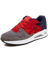 Zapatillas de deporte para hombre, Ouneed ® Moda hombres impresión cómodo Casual suave bajo-top zapato (EU 44, rojo)