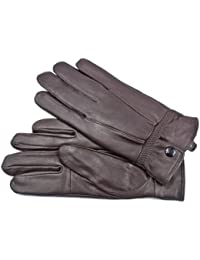 LADIES NEW SOFT LEATHER FULLY LINED GLOVES BY LORENZ 8910 DARK GREY