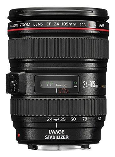 Canon EF 24-105 mm 1:4.0 L IS USM Objektiv (77 mm Filtergewinde, Original Handelsverpackung) (Zertifiziert und Generalüberholt)