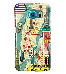 Blue Throat Drama Of Paris City Printed Designer Back Cover For Samsung Galaxy S6 Edge