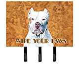 Caroline's Treasures SC9130TH68 Pit Bull Wipe Your Paws Leash or Key Holder, Large, Multicolor