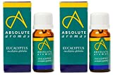 (2 Pack) - Absolute Aromas - Eucalyptus Globulus Oil | 10ml | 2 PACK BUNDLE