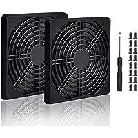 Easycargo - Rejilla para filtro de ventilador (4 unidades, incluye tornillos), color negro