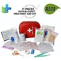 CAMMATE Emergency Erste-Hilfe-Kit, 70 Stück medizinische Versorgung in Mini Überlebensbeutel für Zuhause, Reisen... preisvergleich bei billige-tabletten.eu