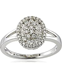 Manubhai Jewellers 18KT White Gold And Solitaire Ring For Women
