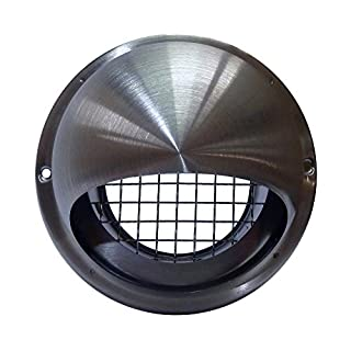 Airflow 52644701 100 mm Round Stainless Steel Cowl with Mesh
