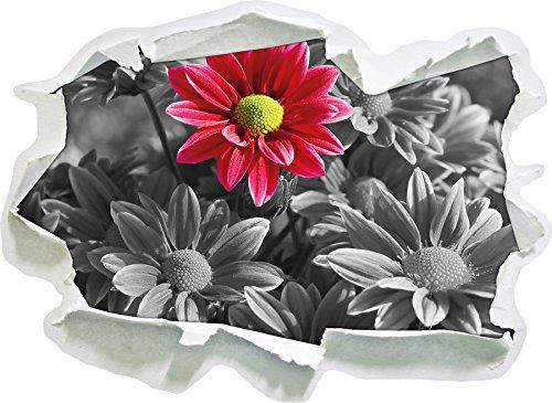 bella crisantemo mazzo formato adesivo nero / bianco, carta da parati 3D: 92x67 cm decorazione della parete 3D Wall Stickers parete decalcomanie