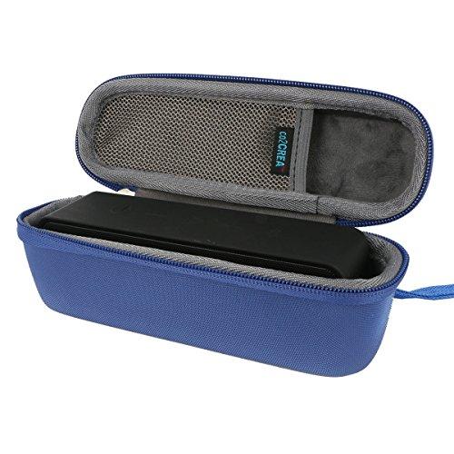 para Anker SoundCore (AK-A3102011) Dual-Driver Ultra-Portable Altavoz inalámbrico Bluetooth Almacenamiento duro estuche de transporte Caja Bolsa Fundas de viaje por co2CREA - Azul