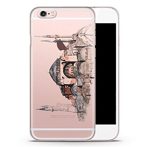 iPhone 6 & 6s transparente SLIM Hülle - Hagia Sophia Ayasofya Istanbul Türkei - Motiv Design Türkiye Cami Islam - durchsichtige Handyhülle Hardcase Schutzhülle Cover Case Schale Hardcover