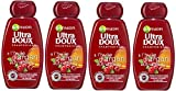 Garnier - Ultra DOUX À l'Huile d'Argan et Cranberry - Shampooing 400ML Cheveux Colorés - Lot de 4