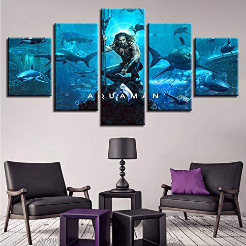 Wandbilder Abstrakt Poster Aquaman Film God Of War Ascension Bilder Home Decor Drucke,30X40/60/80Cmwiwhy ()