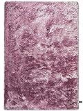 benuta Shaggy Hochflor Teppich Whisper Lila 120x170 cm | Langflor Teppich für Schlafzimmer und Wohnzimmer