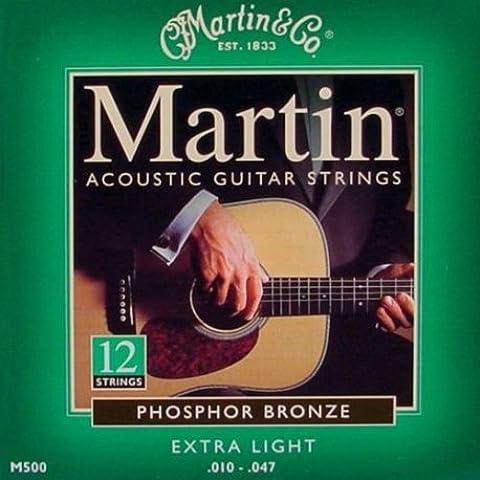 Muta set di corde chitarra acustica 12 corde Martin m-500 10/47
