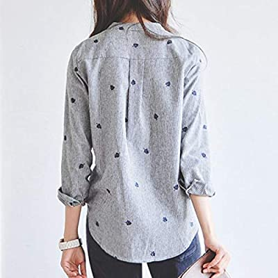 Me&U Ladies Autumn Leaves Embroidery Casual Shirt