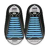 JANIRO - Der flache elastische Schnürsenkel aus Silikon für einzigartigen Komfort ohne Binden - Bietet perfekten Sitz und Halt für Kinder und Erwachsene bei Sport und Freizeit – In 13 Farben