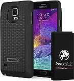 PowerBear® kompatibel für Samsung Galaxy Note 4 Erweiterte Akku [7500mAh] & Rückseitenschutz & Schutzgehäuse (Bis zu 2,3x Zusätzliche Batterieleistung) –Schwarz