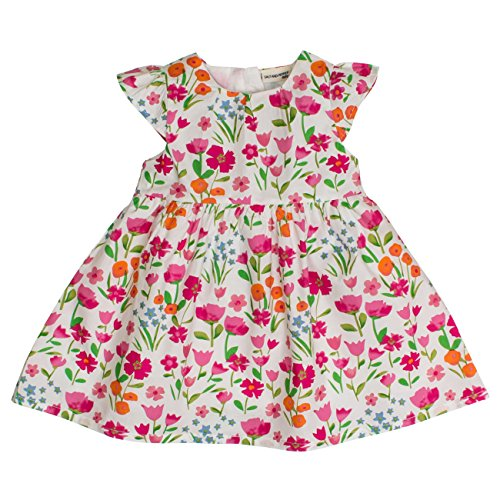 SALT AND PEPPER Baby-Mädchen Kleid B Dress Allover Bunte Blumen, Mehrfarbig (Original 099), 74