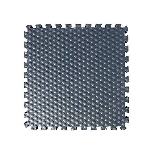 Stallmatten für Pferde >Luckymat< | extra dick und komfortabel | aus EVA Material - wärmer und weicher als Gummimatten | Puzzle-Verbindung | rutschhemmend | 60 x 60 cm - 34 mm