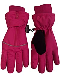 N'Ice Caps Kids Thinsulate and Waterproof Easy On Zip-Up Reflector Gloves