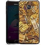 Samsung Galaxy A3 (2016) Housse Étui Protection Coque Or Pierre précieuse Bijoux