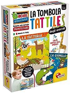 Lisciani Giochi - Tombola táctil de Animales, Multicolor, 72460