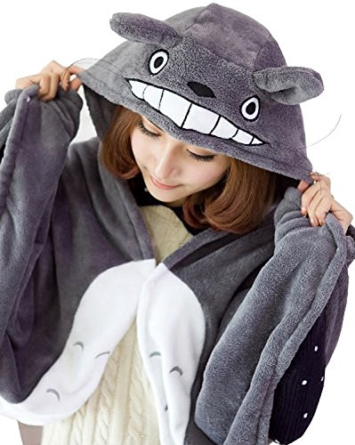 Anime Cosplay Mein Nachbar Totoro Ghibli Kostüm Umhang Schal - Ghibli Cosplay Kostüm